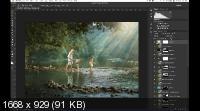 Видеоурок Photoshop: Дети в лесу (2019)