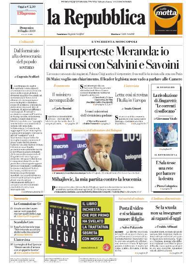 la Repubblica   14 07 (2019)