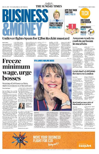 The Sunday Times Business  16 July (2017)