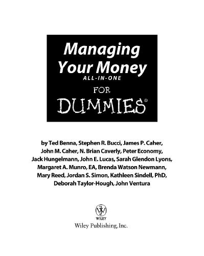 Managing Your Money All In One For Dummies