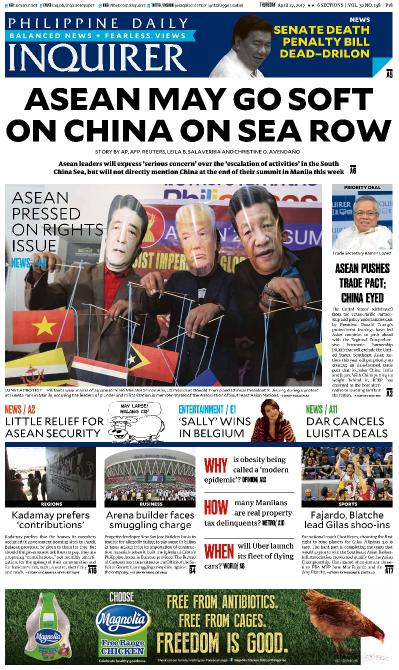 Philippines Daily Inquirer  April 27 (2017)