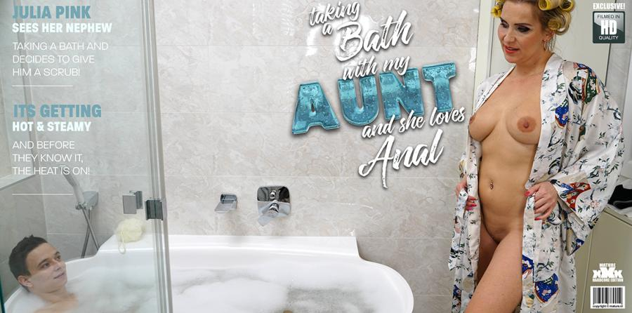 Julia Pink (42) - Anal craving Julia Pink loves to share a bath with her nephew [1080p]