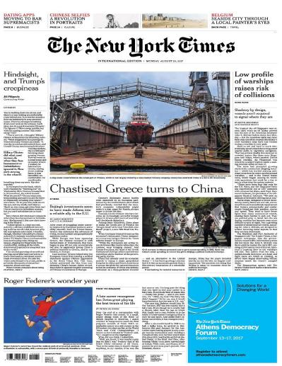 International New York Times  28 August (2017)