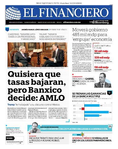 El Financiero   30 07 (2019)