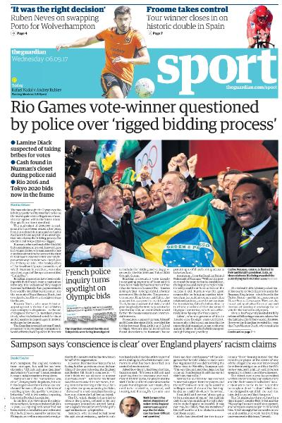 The Guardian Sports  September 6 (2017)
