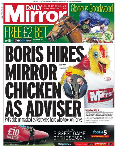 Daily Mirror   30 07 (2019)