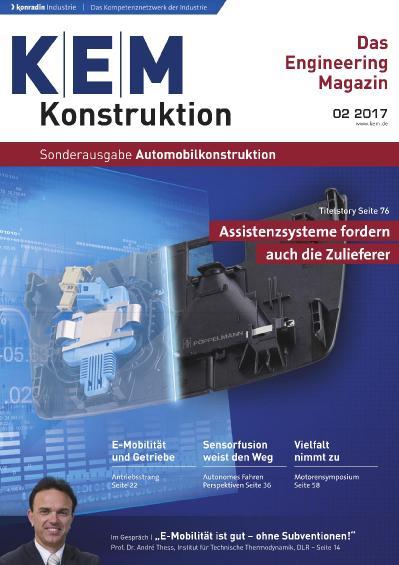 Konstruktion Entwicklung Management Sonderheft Nr 2  Automobilkonstruktion (2017)