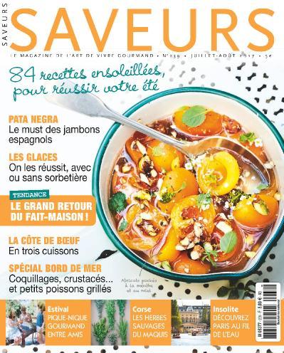 Saveurs France  Juillet Ao 251 t (2017)