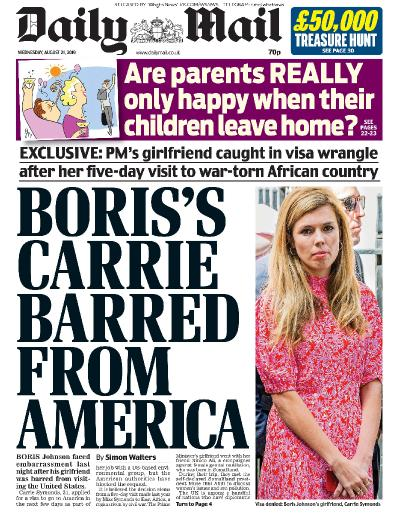 Daily Mail   21 08 (2019)