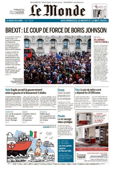 Le Monde - 30 08 (2019)
