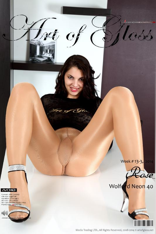 Art of Gloss #1 in pantyhose understanding.  13-3-14, Rose & Wolford Neon 40
