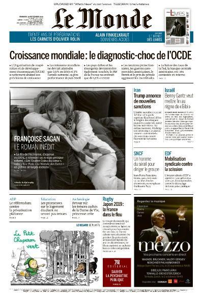 Le Monde - 20 09 (2019)