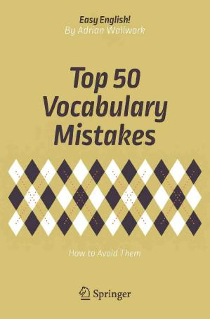 top 50 vocabulary mistakes how to avoid them wallwork adrian